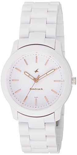 Fastrack Trendies Analog White Dial Women's Watch-68006PP02