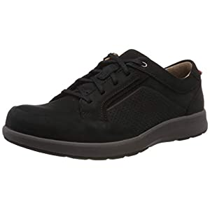 Clarks 261464877 Mens Un Trail Form Mahogany Leather Lace-Up Shoes, Black (Black Nubuck), 9 UK (43 EU)