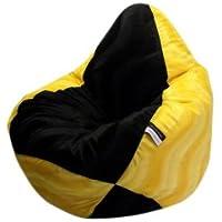 Preisvergleich für Altmark-Design Sitzsack XL für Fans Gelb-Schwarz incl. Inlett