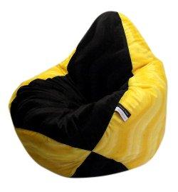 Altmark-Design Sitzsack XL für Fans Gelb-Schwarz incl. Inlett
