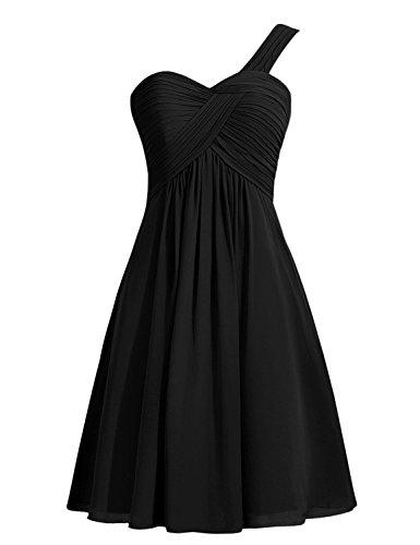 VB Kleid Rock Farbe Größe Schultergurt Stomacher Chiffon, Schwarz, benutzerdefinierte (Benutzerdefinierte T-shirt Farbe-schwarz)