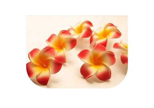 ia 5Cm künstliche Blumen Schaum Eva Frangipaniblume DIY Dekoration Zubehör für Haarspange, Gelb ()
