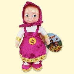 """Plüschspielzeug Masha, 22cm, sprechend (auf Russisch), mit Musik, von Zeichentrickfilm """" Machsa i Medved """" Puppe - OSTERN"""