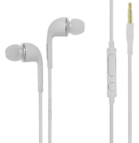 Samsung EHS64AVFWE Stereo Headset, con Controllo del Volume per Galaxy S3 I9300, Galaxy Note N7000 I9220, Cavo Tondo, colore: Bianco in bulk pack