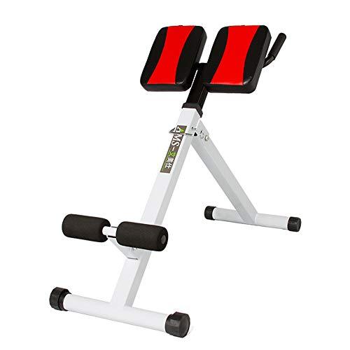 ZJY Faltbarer Verstellbarer römischer Stuhl, Hyperextensionsbank, 45-Grad-AB-Trainingsgerät - Doppelt zusammenklappbarer, unregelmäßiger, Rutschfester Fußschutz - für das Fitnessstudio von Familien