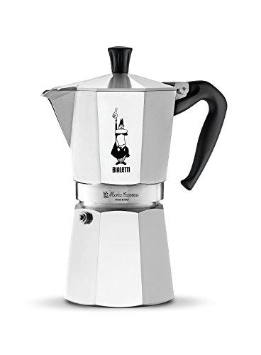 Bialetti Moka Express Espressokocher, Aluminium, 9 Tassen