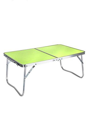 Table pliante Feifei Alliage d'aluminium Pliable Bureau d'ordinateur de lit Extérieur Simple Bureau économiser de l'espace (Couleur : A)
