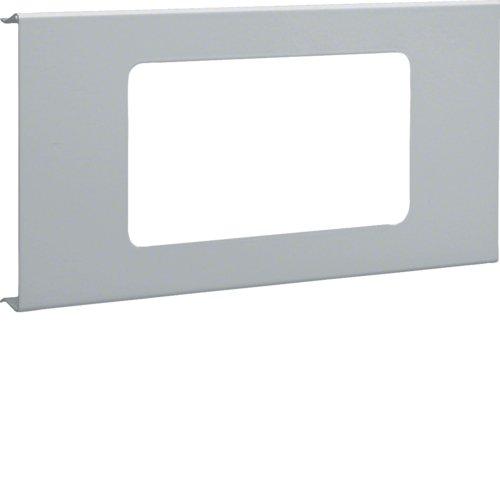 Preisvergleich Produktbild Hager R9282VERZ Blende 2-fach R7 Stahl B RS OT 120 verz