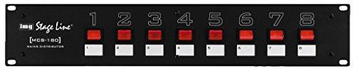 IMG STAGELINE MCS-180 Rack-Steckdosenleiste 2 Stage Line