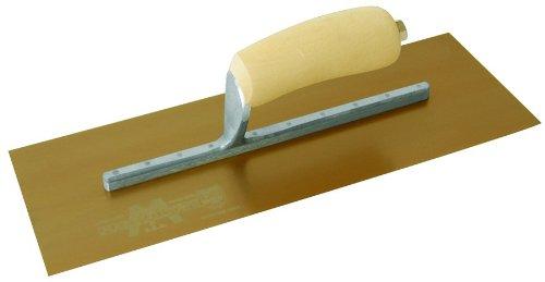Marshalltown 4665DFL 13 x 5 DuraFlex Glättkelle -Holzgriff- Lange Halterung Gold