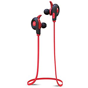BlueAnt Pump Lite Bluetooth Wireless Sport In- Ear Headphones - Red