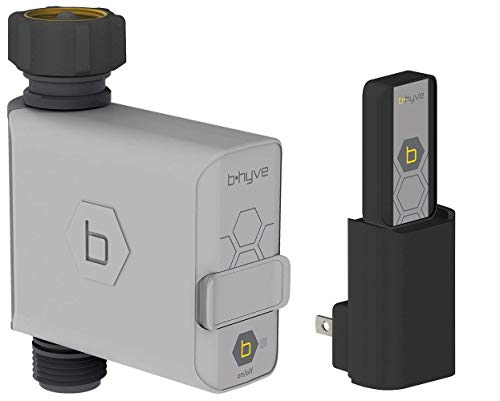 Orbit B-hyve 94990 Smart-Zeitschaltuhr für Wasserhahn/Schlauch mit WLAN-Hub, kompatibel mit Alexa, Grau