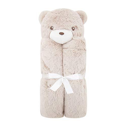 puseky Couverture de bébé Lovely Animal Velvet doux Swaddle Warmet Couverture Serviette de bain Sac de couchage (Color : Brown Bear, Size : One Size)