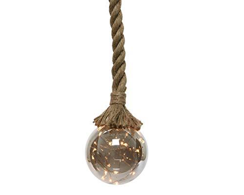 Micro-LED Kugel/Seil, warmes weiss, Ø 14cm, 100cm Seil, 30 Micro-LED auf Metalldraht