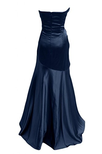 Sunvary Robe Longue Robe de Soir¨¦e Robe de Bal Robe de Party ¨¤ la Mode Sir¨¨ne sans Bretelles Col en C?ur avec Faux Diamants en Satin Marine Fonc¨¦