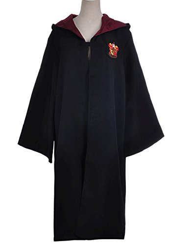 Harry Potter Gryffindor School Fancy Robe Cloak Costume And Tie (Size XL) (Robe Harry Potter)