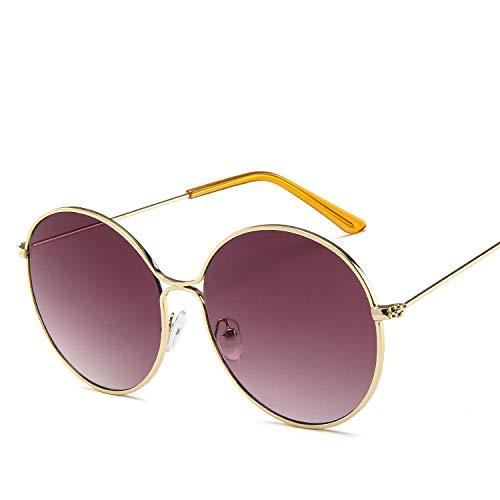 Sonnenbrille aus Metall, rund, hohl, Retro-Stil, Sonnenbrille in Europa und den Vereinigten Staaten, Ozean, Sonnenbrille, Grau wie abgebildet