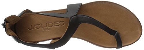 J/Slides Belle Femmes Synthétique Sandales Gladiateur Black