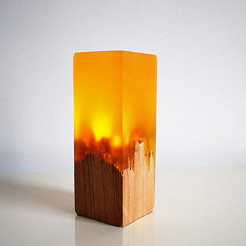 New Custom Creative Gifts Resin Solid Wood Bedside Table Lamp Led Light Yellow 48 * 110Mm New Mens Caterpillar
