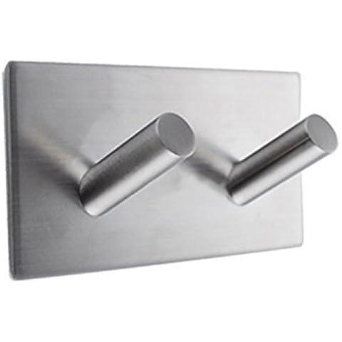 2 Gancho de pared De bano Percha Colgadores de puerta Gancho Puerta Toallero Adhesivos Gancho Colgadores Acero