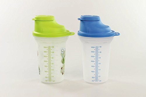 TUPPERWARE Backen Mix-Fix klein 350 ml blau + Shaky Shake It Shaker limette 17356