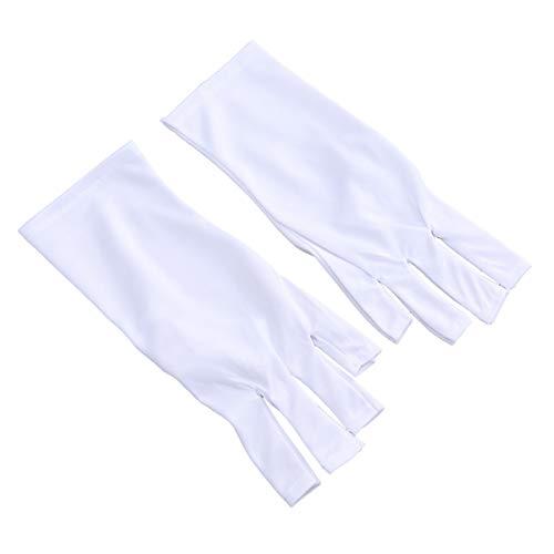 HEALIFTY Anti UV Handschuhe Handschutz Licht Lampe Strahlenschutz Werkzeuge (25 cm kurze weiße UV Handschuhe) -