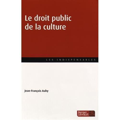Le droit public de la culture
