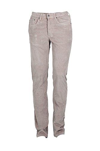 Pantaloni 5 tasche velluto beige, 48