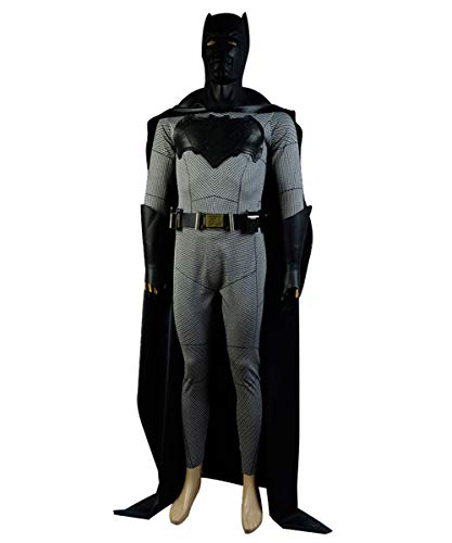 MingoTor Superheld Jumpsuit Umhang Cosplay Kostüm Herren XL