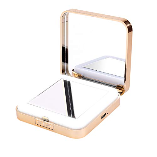 Kosmetikspiegel Beleuchtet, Junnom Vergrößerungsspiegel 10-fach Schminkspiegel