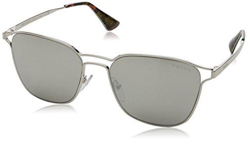 Prada Damen 0PR54TS 1BC2B0 55 Sonnenbrille, Silber Light Grey Silver