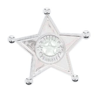 amscan 7,6x 2cm Western Sheriff Abzeichen