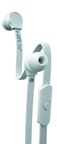 a-Jays One+ In-Ear Kopfhörer (kabelgebundene Ohrhörer mit Remote & Headset Mic für iPhone iOS, Windows und Android, mit Ohrstöpsel in 5 verschiedenen Größen) Weiß - Ajays Kopfhörer