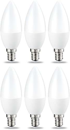 AmazonBasics Petite ampoule bougie LED E14 B35 avec culot à vis, 5.5W (équivalent ampoule incandescente de 40W), blanc chaud -