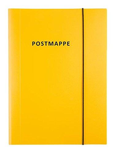 Idena 10021 - Postmappe A4 Polypropylen mit Gummizug, gelb