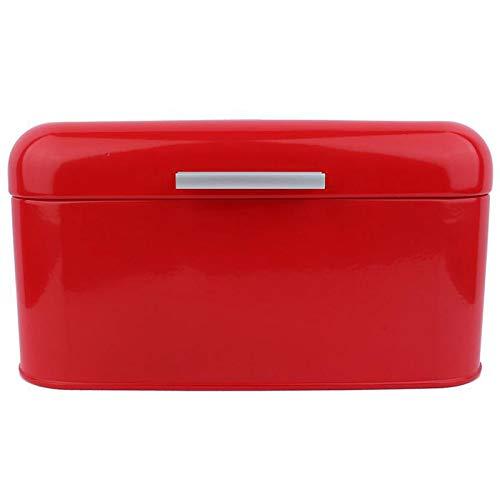 Xigeapg Acryl Box Volltonfarbe Retro Metall Brotkasten Box mit Gro?Er Kapazit?T KüChe Vorratsbeh?Lter -Rot