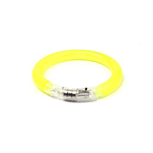50 Gelbe LED-Blasen-Armband-Glühen Belichtete Pulsierende Bunte Leuchten Party-Schlag-blinkendes Armband-Armband das Für Tänze Wiederverwendbar Ist Ereignis-Partys Raves Kids Adult Oder Dark Safety