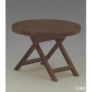 Creal Gartenmöbel Set - 2 Stühle und 1 Tisch aus Holz, Möbel Set Nussbaum ,Puppenstube / Puppenhaus, Küchenmöbel ,Wohnzimmermöbel,Gartenmöbel