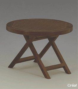 Creal Gartenmöbel Set - 2 Stühle und 1 Tisch aus Holz, Möbel Set Nussbaum ,Puppenstube / Puppenhaus, Küchenmöbel ,Wohnzimmermöbel,Gartenmöbel -