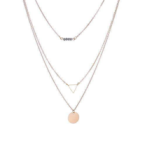 SUNNOW® Sexy Colliers multi-rangs clavicule chaîne Géométrique Tassel collier Fashion Necklace