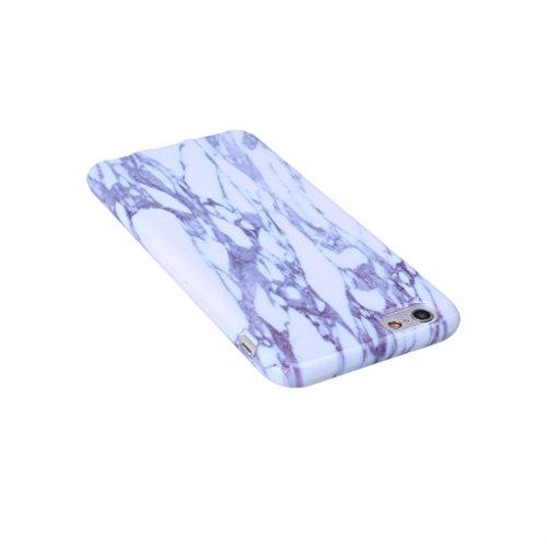 iPhone 6 Plus / 6S Plus Cover , YIGA Natural marmo bianco di pietra del reticolo Silicone Cristallo Morbido TPU Case Custodia per Apple iPhone 6 Plus / 6S Plus 5.5 A-7Plus-HD7