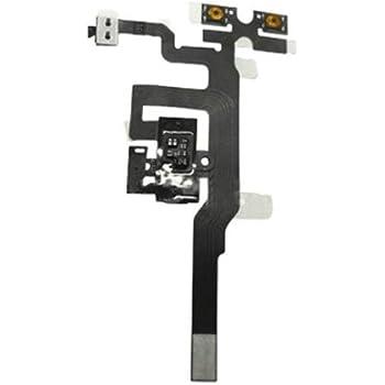Nappe de la Prise Jack et des boutons Volume et Vibreur pour iPhone 4S Noir