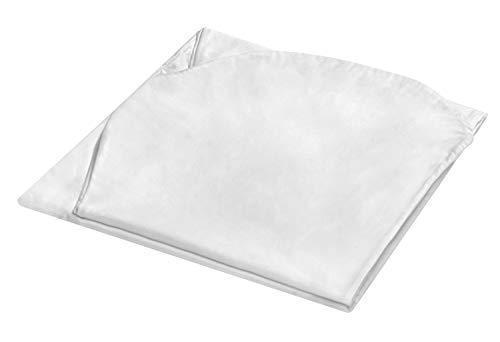 sleepling Ersatzhülle für Bodypillow Schwangerschaftskissen Seitenschläferkissen Lagerungskissen 100% Baumwolle, 140 x 75 x 20 cm, weiß