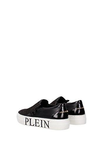 Slip On Philipp Plein take a walk limited edition Donna - Pelle (SW141460) EU Nero