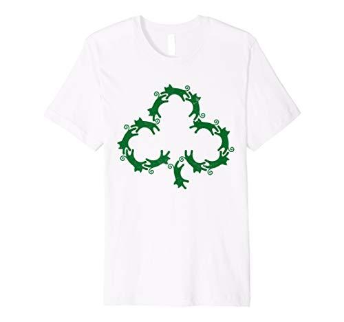 (Cat St Patricks Day Shirt Kitty Kleeblatt Kätzchen Kostüm)