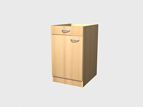 Küchen Unterschrank 50 cm Buche ohne Arbeitsplatte - Namu