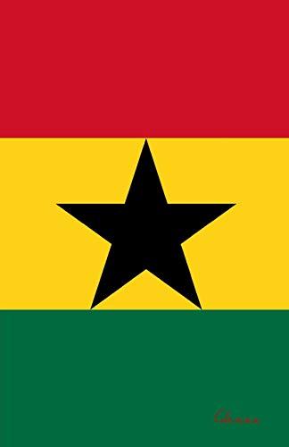 Ghana: Flagge, Notizbuch, Urlaubstagebuch, Reisetagebuch zum selberschreiben -