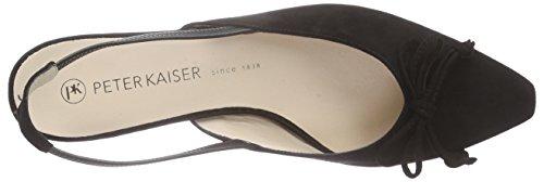 Peter Kaiser CATHY - Scarpe con Cinturino alla Caviglia Donna Nero (Schwarz Suede 240)