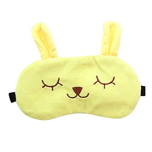 für einen ganzen Schlaf, leicht und bequem, super weich, niedliche Tier-Augenmasken zum Schlafen, Schichtarbeiten, Nickerchen, Augenbinde für Kinder, Männer und Frauen e ()