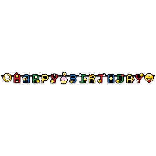 NET TOYS Guirnalda de Letras Motivo emoticonos Smiley | 193 x 15...